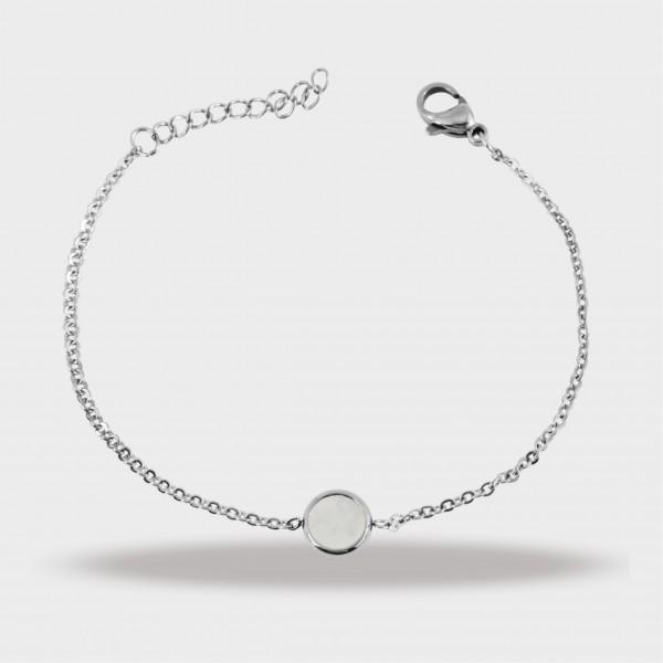 Edelstahl Armband, 16+4cm