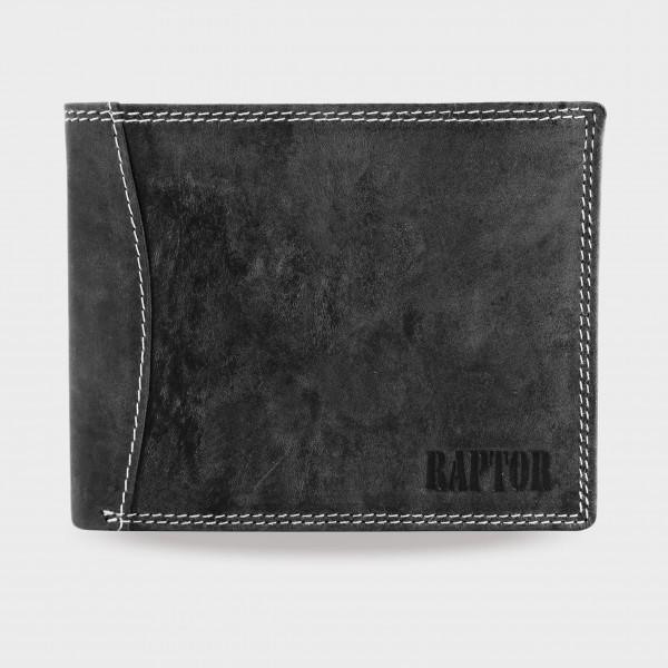 Raptor Herren Geldbörse aus Echtleder. Format 12 x 10 cm.