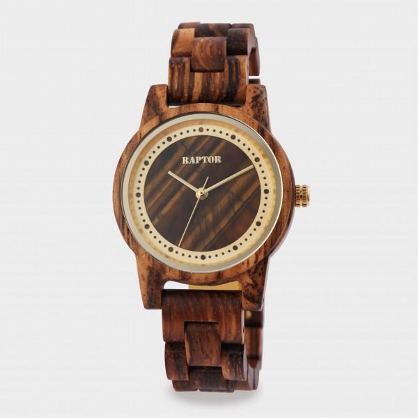Raptor Damenuhr aus Holz